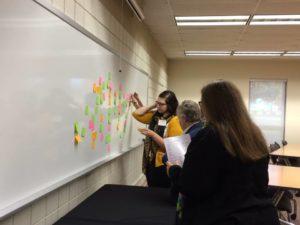 Cindy Leonard teaching a class